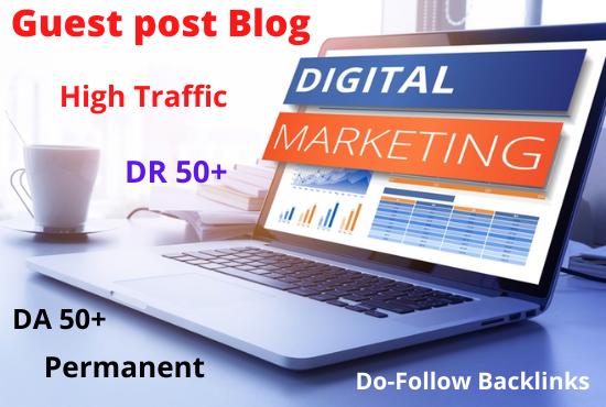 I will do guest post on digital marketing blog