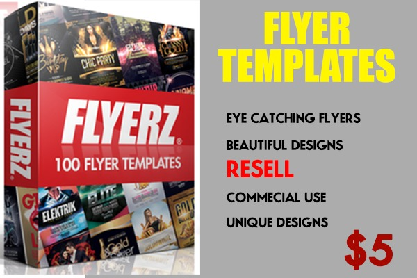 I will give 100 unique flyer templates