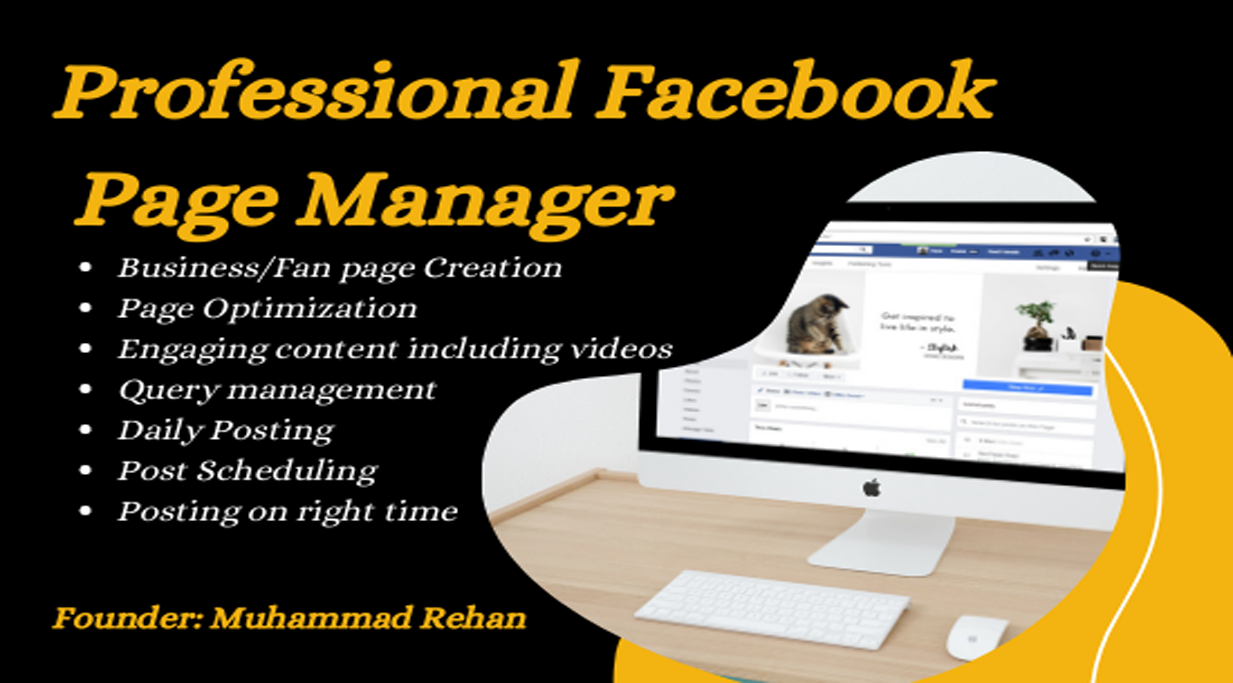 I will be your Facebook Page Manager and Content Creator for 14 days