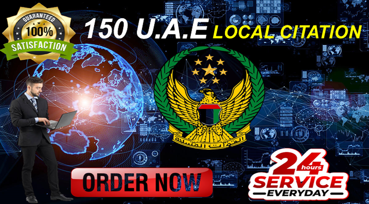 Skyrocket your Google My Business ranking with 150 high-authority UAE local citations