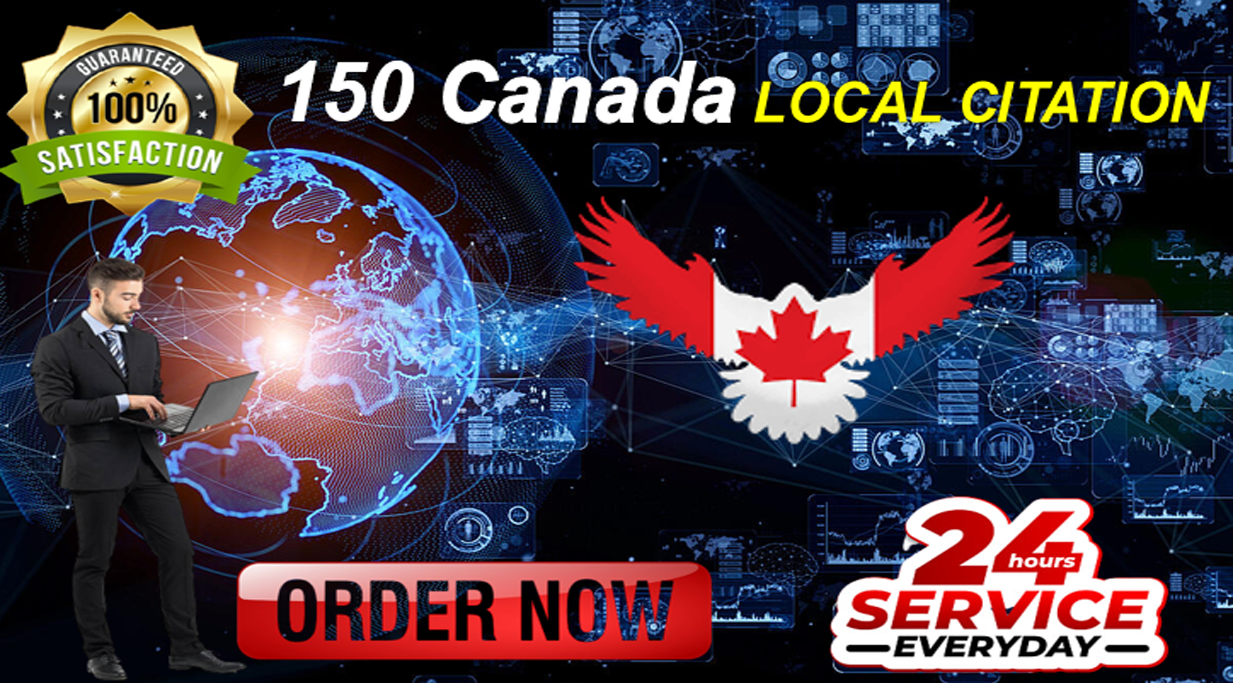 Skyrocket your GMB ranking with 150 high-authority Canada local citations and directories