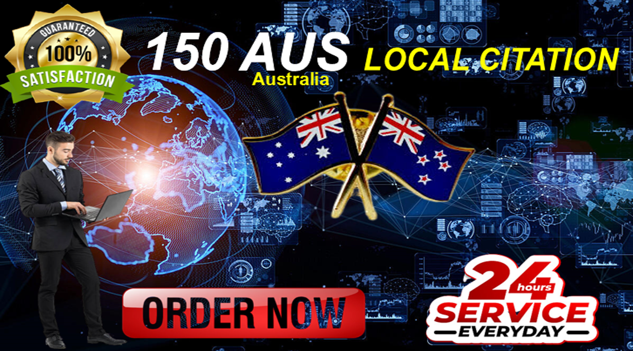 Skyrocket your GMB rankings with 150 high-authority Australia local citations and directories