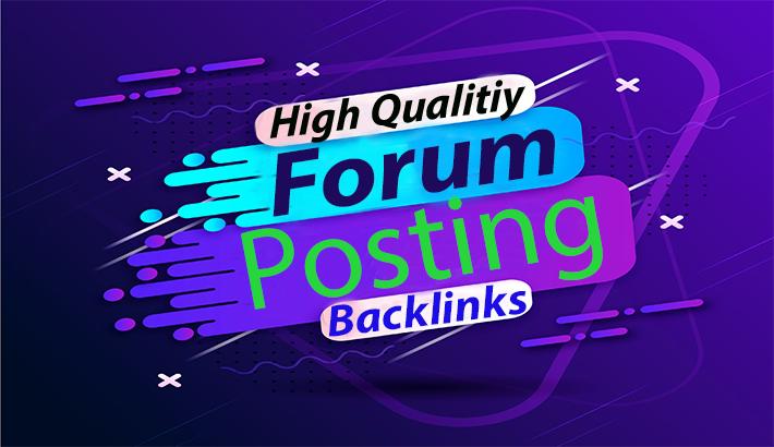 55+ HQ Forum posting dofollow backlinks,  forum linkbuilding