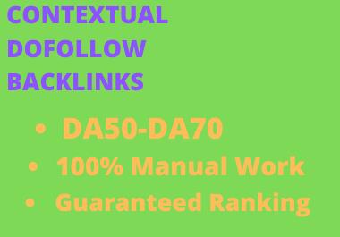 I will provide contextual dofollow backlinks service