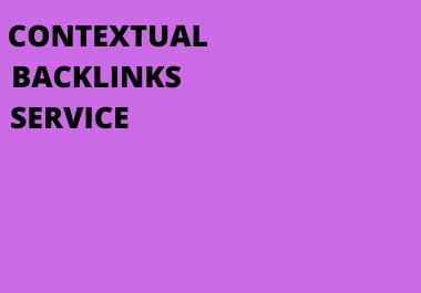 I will do contextual backlinks service