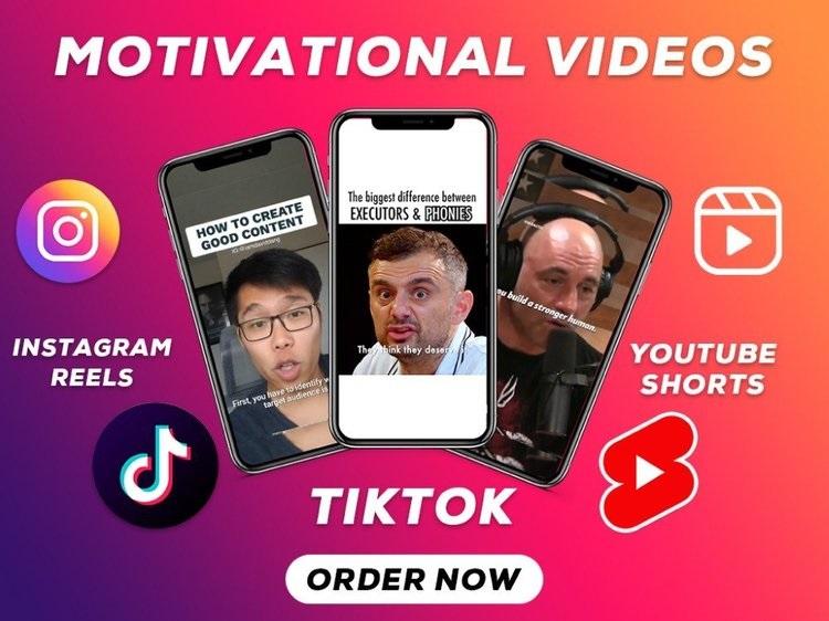 I will provide motivational videos,  fitness videos for youtube,  instagram,  websites,  blogs,  apps
