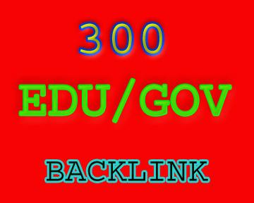 I will give you300+ edu. Gov backlink fast delivery