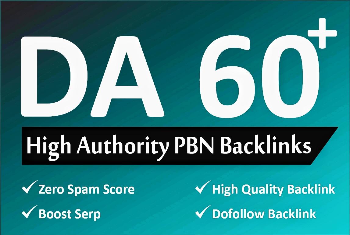 I drive 100 PBN DA 60+ high quality PBN Dofollow Backlinks