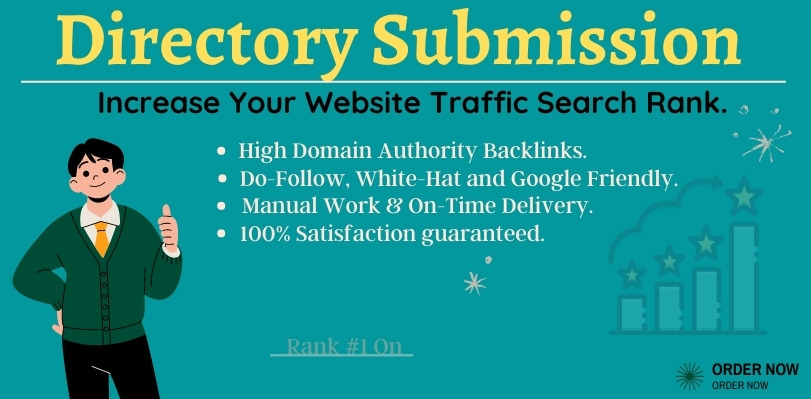 I Will Manually do 55 Do-Follow Directory Submission High Authority Backlinks to Rank up Website