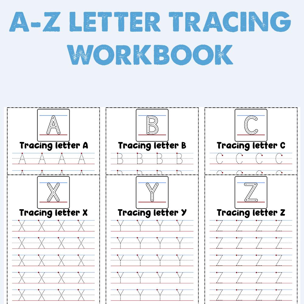Preschool A-Z Letter Tracing Workbook