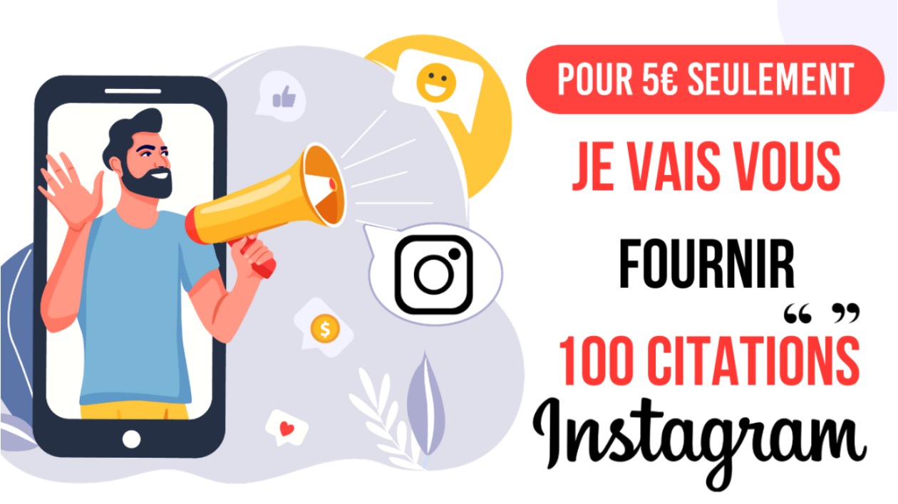I will provide you with 100 Instagram quotes according to your niche