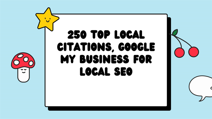 I Will MANUALLY Do 250 best local citations for your business