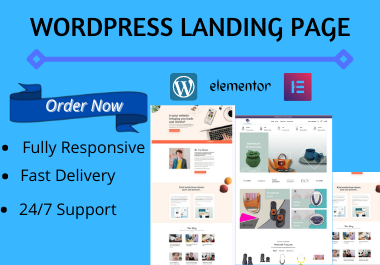 I will design a clean wordpress landing page or elementor landing page