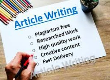 I will write Seo optimize articles for you