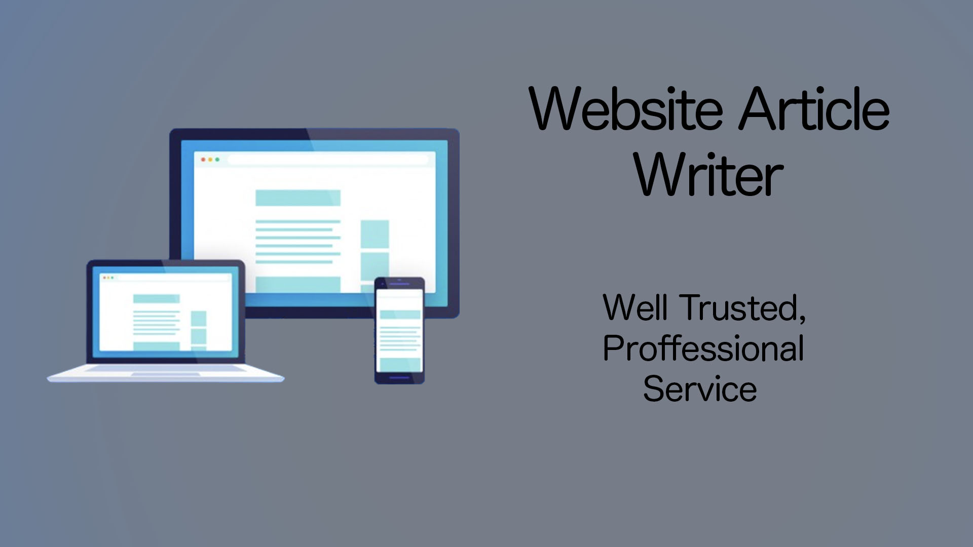 Website Article Writer - High Quality Articles