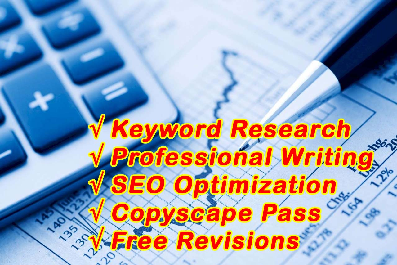 I Will Write Articles And Blogs On Business,  Finance And Accounting