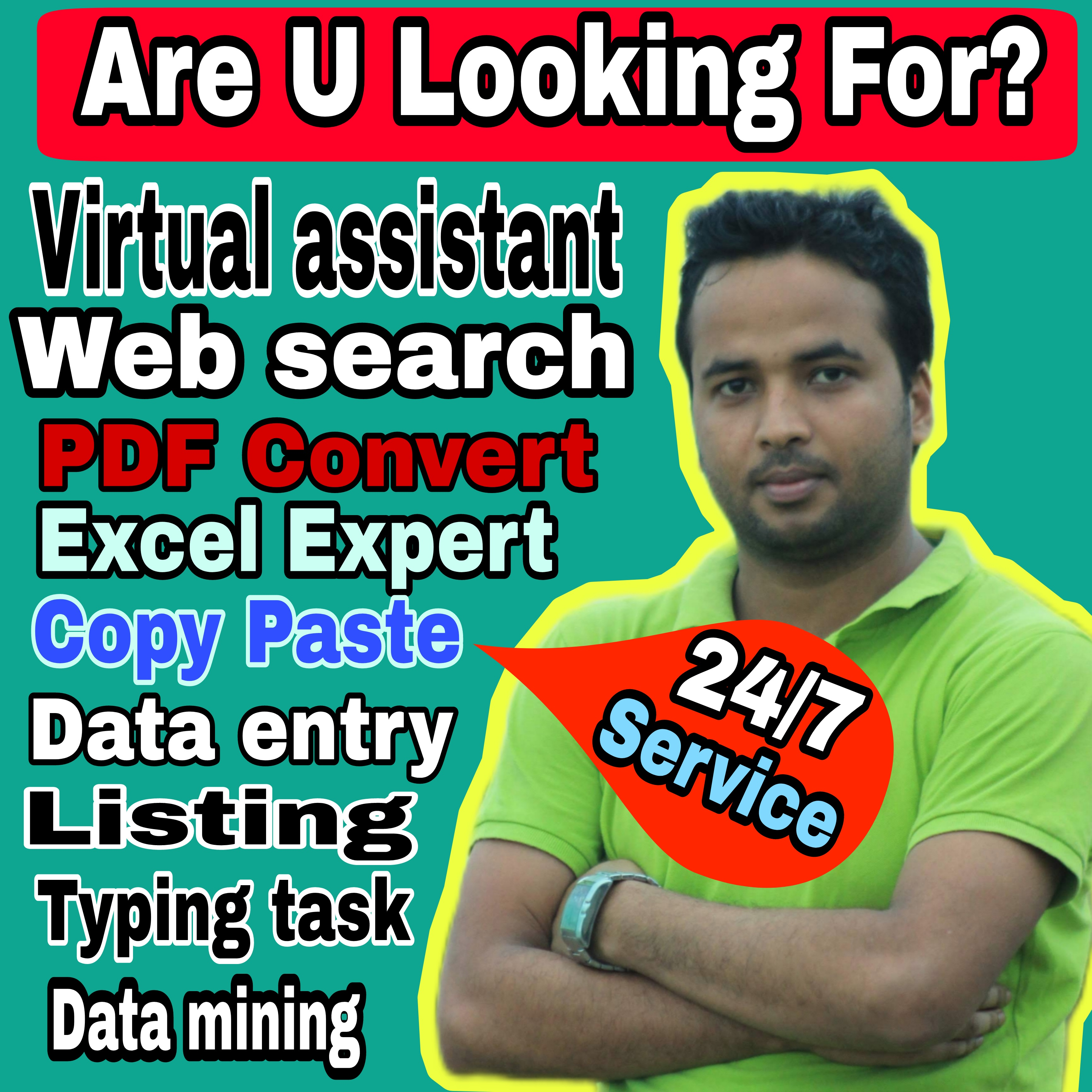 I will provide Unique services data entry excel data entry data convert