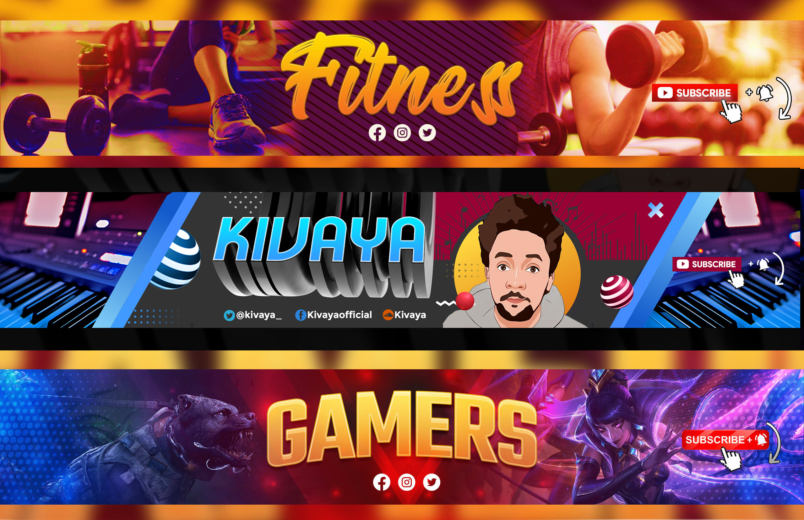 I will design a social media or youtube banner
