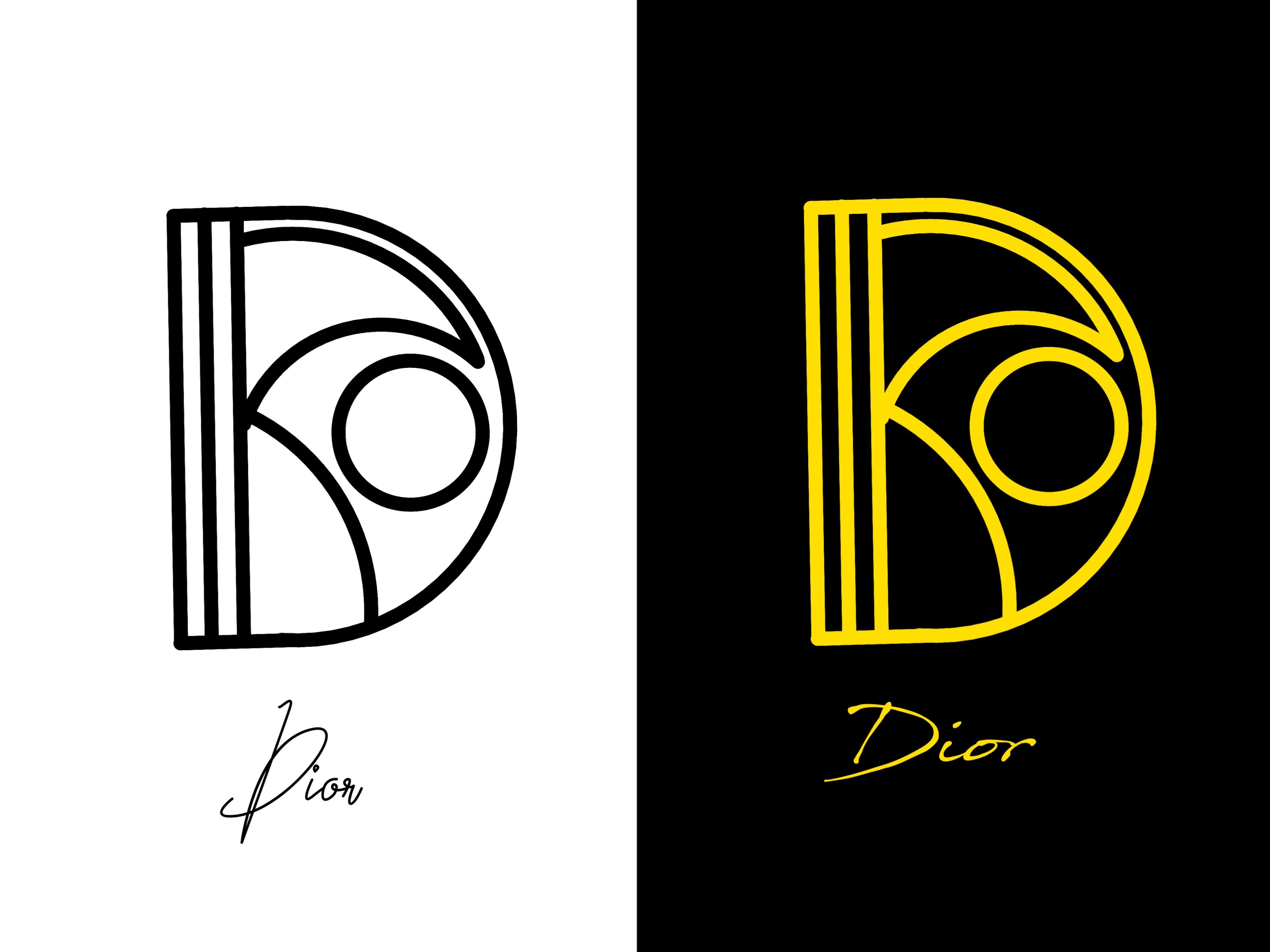 Create a design logo from your name or brand