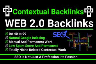 I will build 100 web 2 0 backlinks.