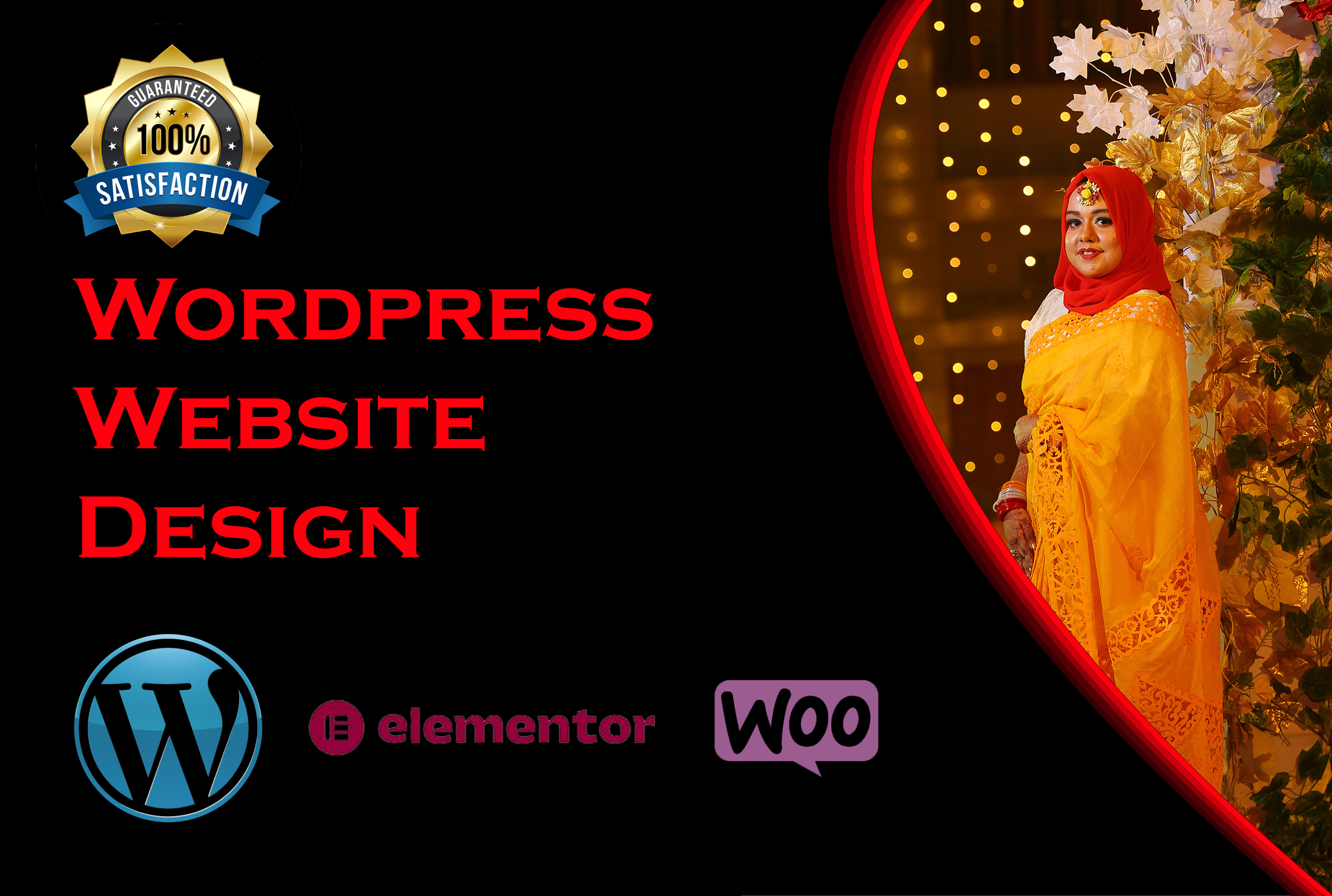 Design wordpress website,  landing page