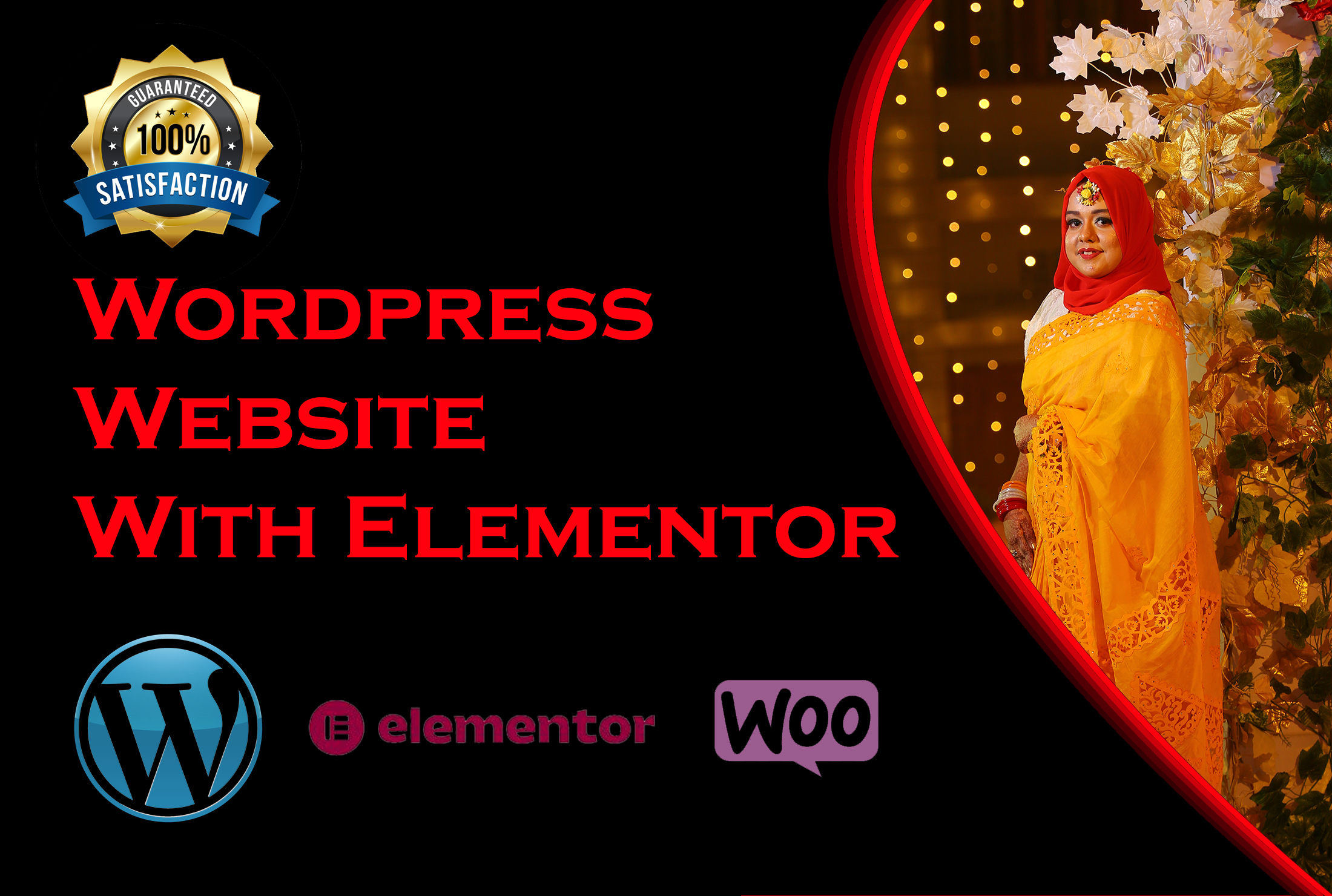 Design wordpress website,  landing page by divi theme,  elementor pro