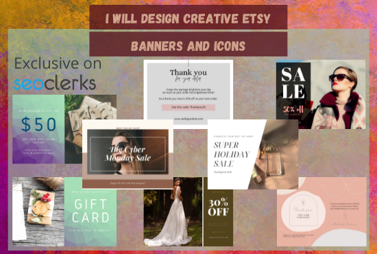 I will design a professional Esty banner with a matching icon