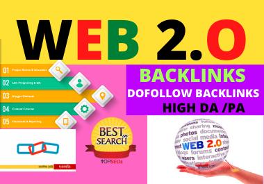 I'll do 75 Web 2 0 High Authority Dofollow Backlinks