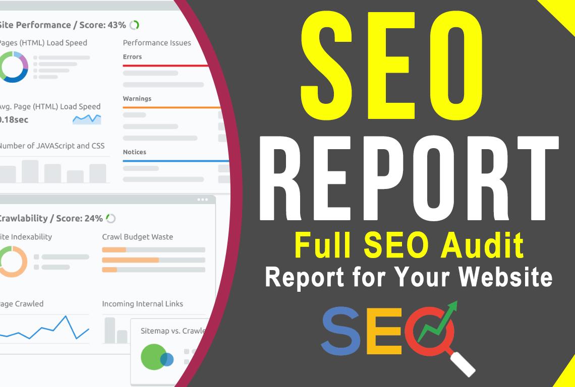 I will provide expert Full SEO analysis Audit Report for Your Website