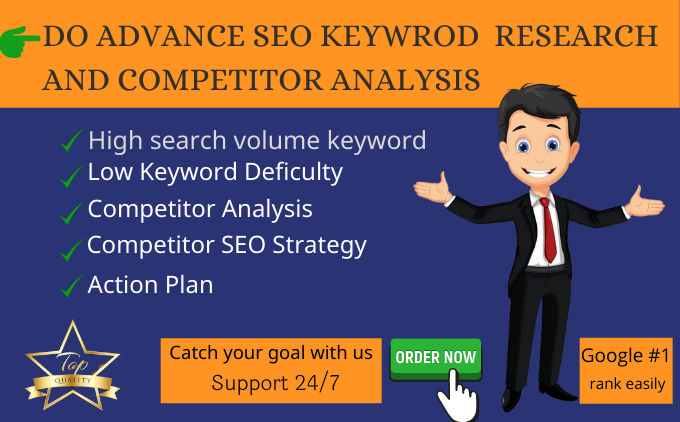 I will do advance SEO keyword research and top competitor analysis