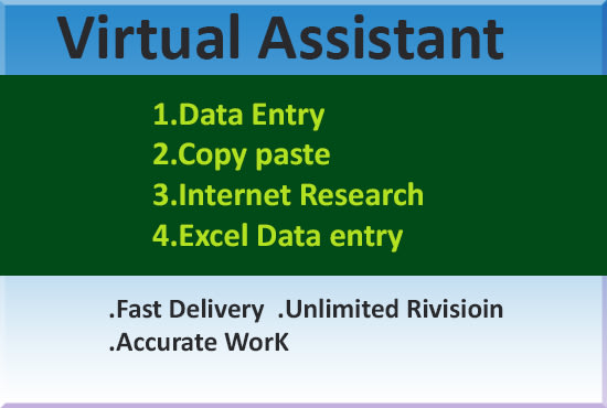 i will do data entry,  copy past and typing work correctly