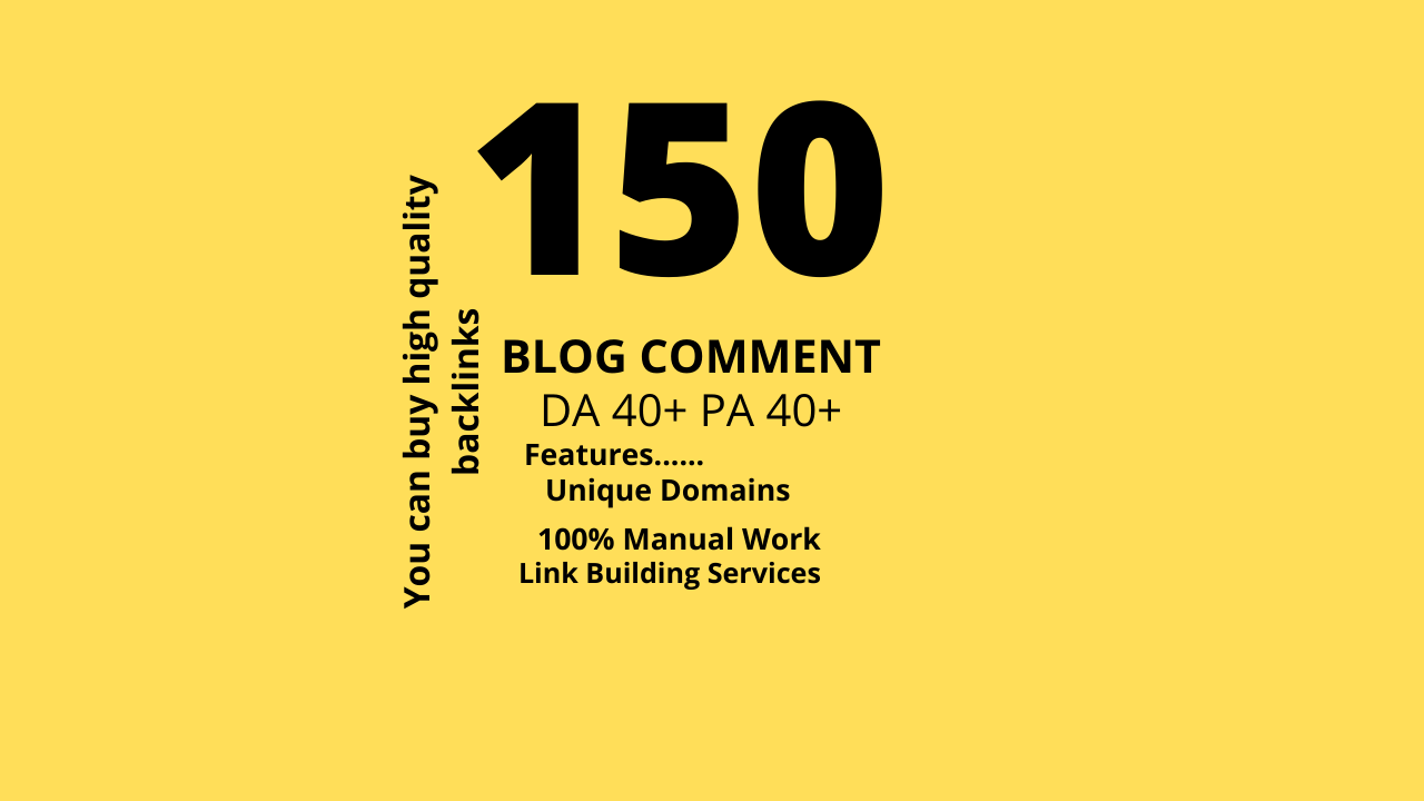 I Will Make 100 DA 90-40+ & PA 40+ Manually Submit Blog Comments
