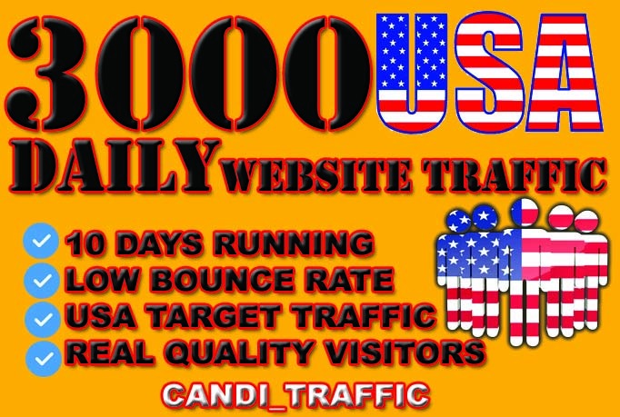 Generate usa targeted website traffic visitors for 10 days