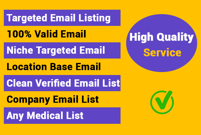 I will collect active and verified niches email list for email marketing