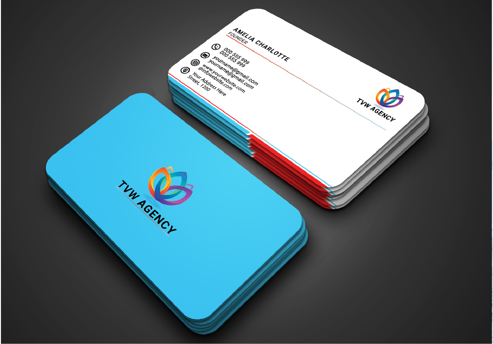 I will design luxury,  modern,  outstanding business card design print ready