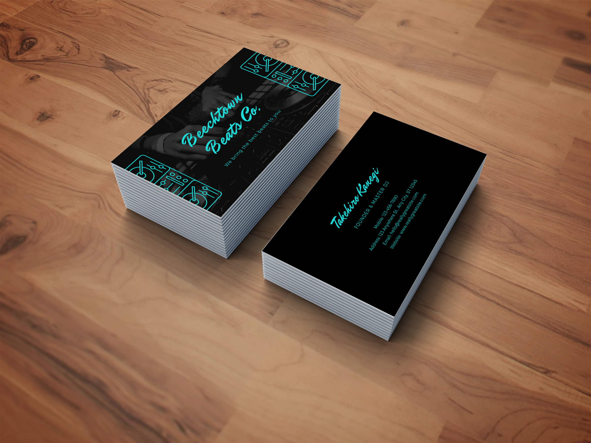 I will do design double sided business card print ready files