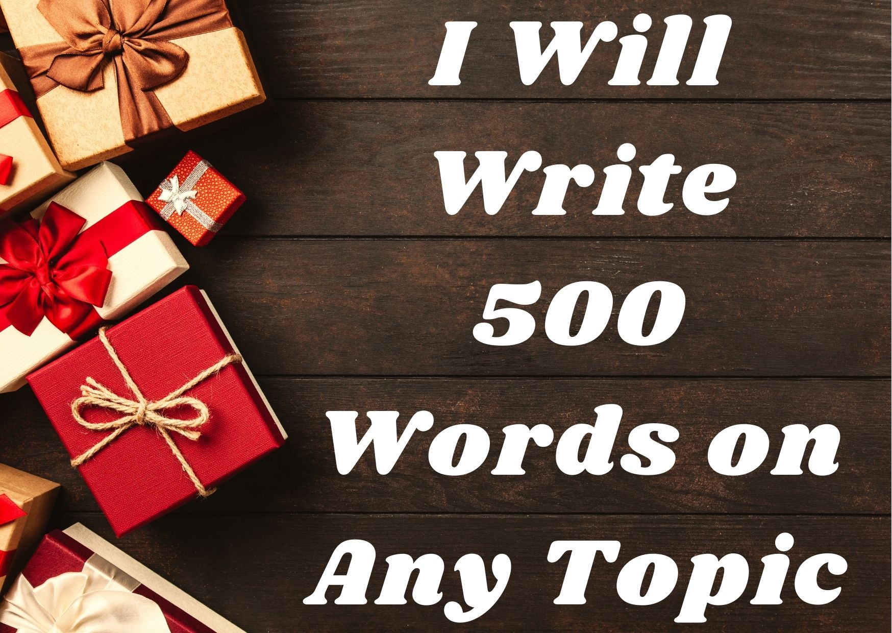 I'll write 500 words top quality and creative article.