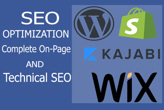 I will Do Complete SEO of Wordpress,  Shopify,  Wix and Kajabi Websites