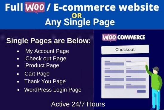I will fix and redesign cart,  checkout or full woocommerce website