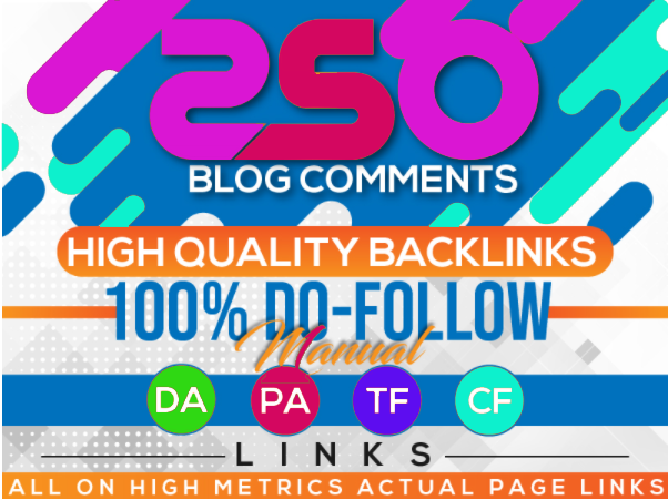 I will create 250+high quality blog comments for you with extra keyword and anchor text