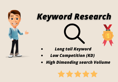 I will research the best keywords for top rank on Google.