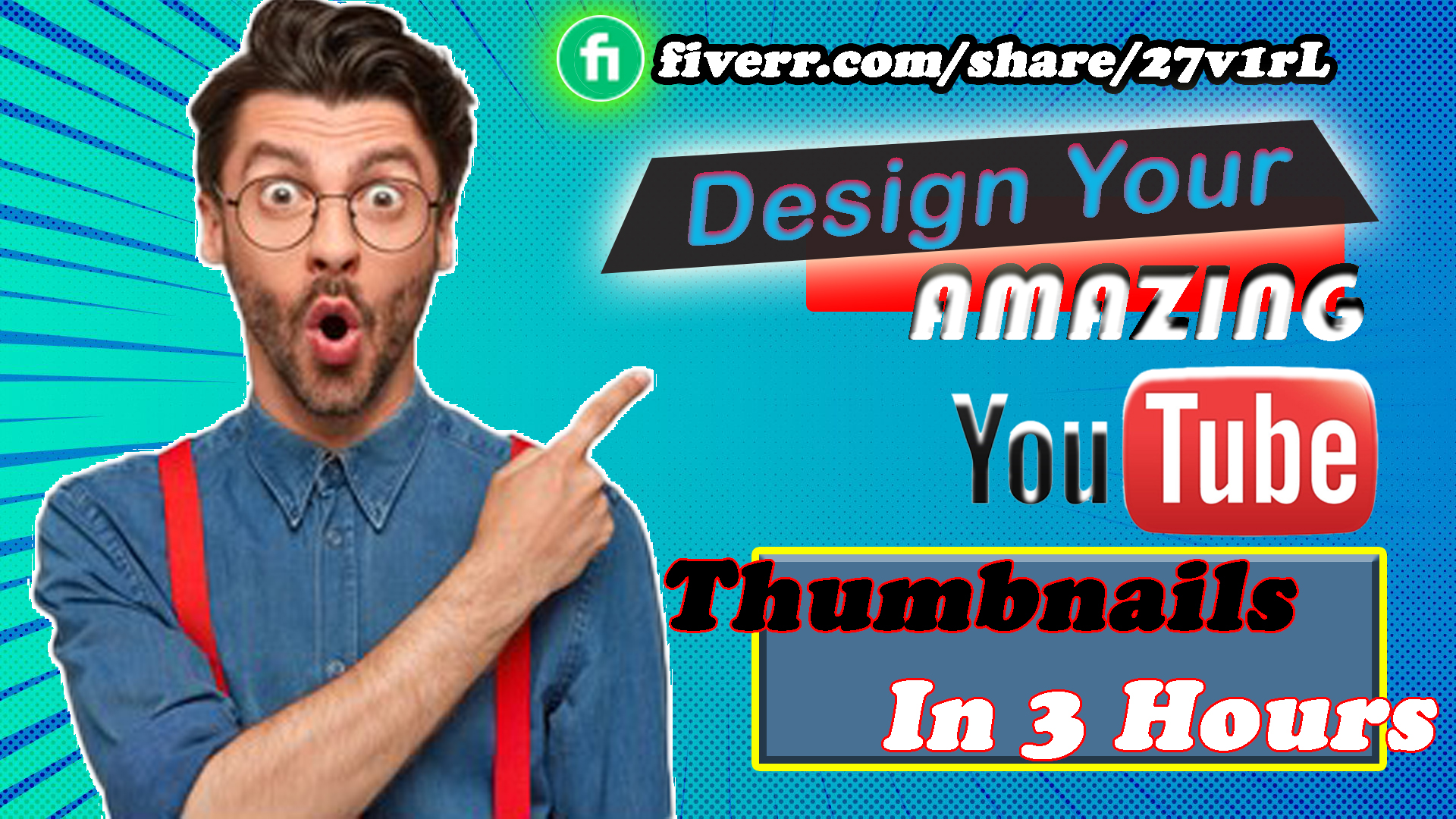 I will design youtube thumbnails in 3 hours