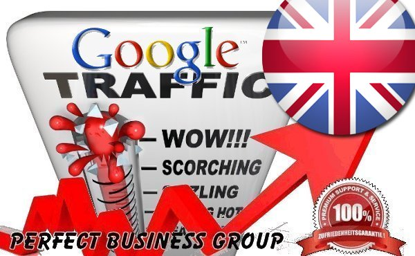 Organic traffic from Google. co. uk United Kingdom with your Keyword