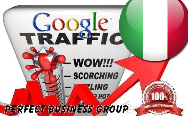 Organic traffic from Google. it Italy with your Keyword