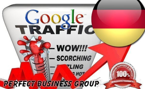 Organic traffic from Google. de with your Keyword