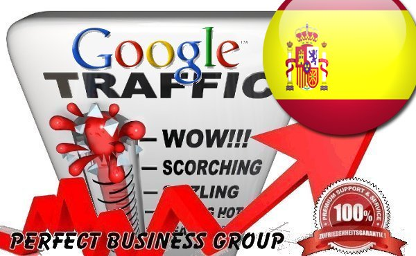 Organic traffic from Google. es Spain with your Keyword