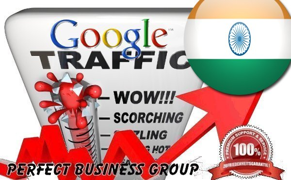 Organic traffic from Google. co. in India with your Keyword