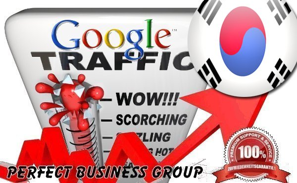 Organic traffic from Google. co. kr Korea with your Keyword