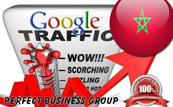 Organic traffic from Google. co. ma Morocco with your Keyword