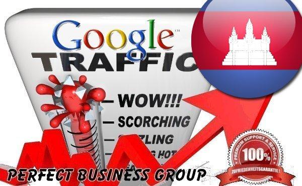 Organic traffic from Google. com. kh Cambodia